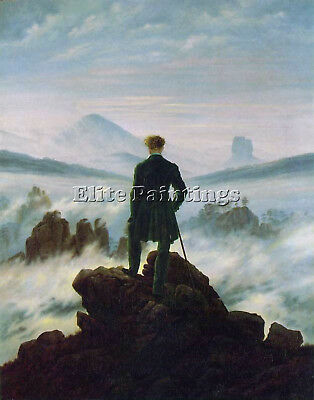 Wanderer Above The Sea Of Fog Hse Artist Painting Oil Canvas Repro Wall Art Deco
