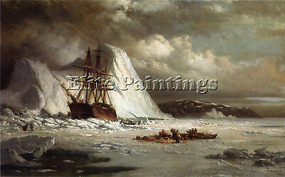 Bradford William Icebound Ship Artist Painting Reproduction Handmade Oil Canvas