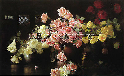 Decamp Joseph Roses Artist Painting Reproduction Handmade Oil Canvas Repro Deco