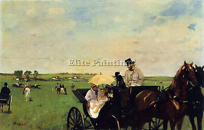 Degas Edgar A Carriage At The Races Artist Painting Oil Canvas Repro Art Deco