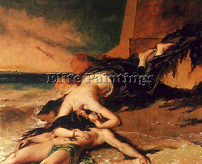 Etty William Hero And Leander Artist Painting Reproduction Handmade Oil Canvas