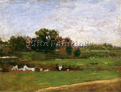 Eakins Thomas Study For Meadows Gloucester New Jersey Artist Painting Oil Canvas