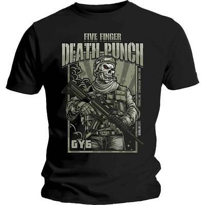 Five Finger Death Punch War Soldier Shirt S M L XL XXL Band T-shirt Official