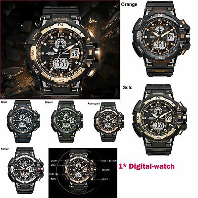 14-22cm Sports Style Hombres Military Digital-Reloj Impermeable Deporte Multif