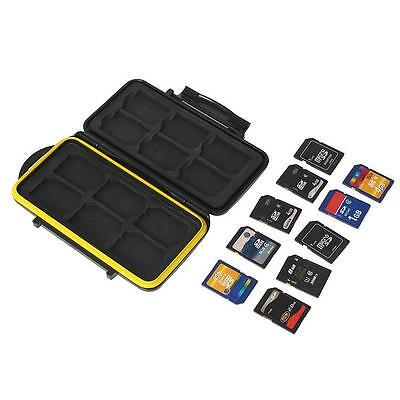 Waterproof Water-Resistant Storage Memory Card Case Protector For 12 Sd Cards