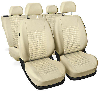 CAR SEAT COVERS full set fit Opel Insignia - leatherette Eco leather beige