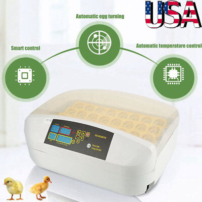 32 Eggs Automatic Digital Incubator Chicken Poultry Hatcher Temperature Control