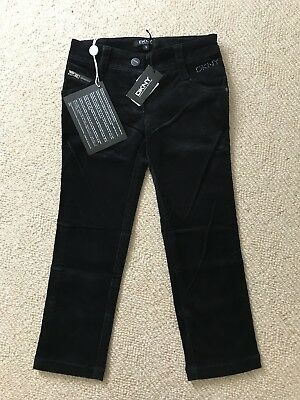 DKNY Girls Black Trousers Aged 6 Years - Brand New With Tags