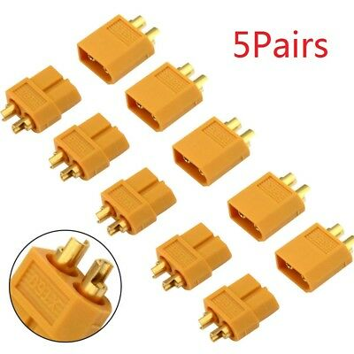 Xt60 Rc Battery Connectors Plugs 5 Pairs Sockets Female &male New