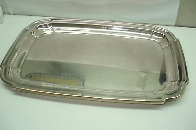 "Sterling Silver Antique Rectangle Tray Hallmarked and Numbered 192 Grams 9""X6"""