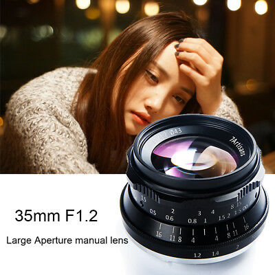 7artisans 35mm F1.2 Manual Focus Lens for Sony A7 A7R /M4/3/Fuji GH5 X-T2 Camera