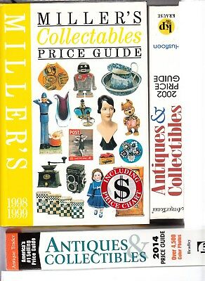 Antique Trader & Collectibles Price Guides 2002 & 2014 + Miller's Price Guide