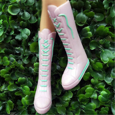 Long Boots Casual High Heels Cute Shoes Clothes For  Doll Accessories Kw