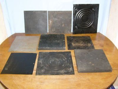 Lot of 9 old back plates  for comtoise movement