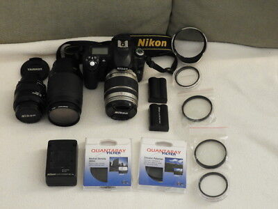 Nikon D50 SLR 6.1MP - 3 lenses - 2 Batteries - Lots of Filters. Awesome Package!