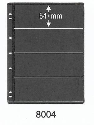 PRINZ PRO-FIL 4 STRIP BLACK STAMP ALBUM STOCK SHEETS Pack of 5 Ref No: 8004
