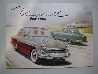 Vauxhall Wyvern Velox Cresta brochure Prospekt English text 1956 8 pages Canada