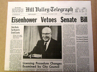 Back to the Future - Hill Valley Telegraph - Prop Newspaper Replicas - 1st Movie