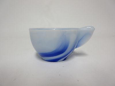Akro Agate Blue/White Marbleized Large Interior Panel Child's CUP /3 Available