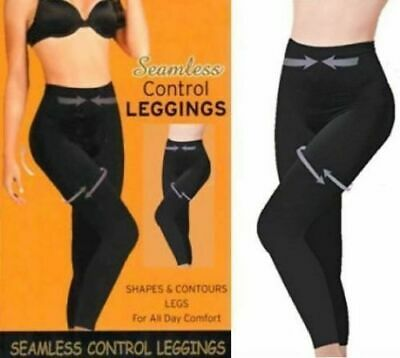 Ladies Womens High Waist Leggings Full Length Seamless Slimming Shapewear Leggy