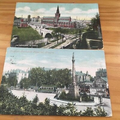 Two Old Postcards Of Glasgow   Posted 1906
