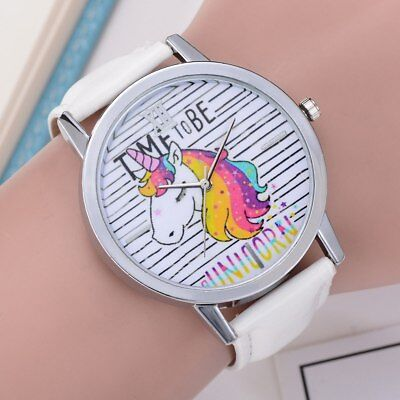 Womens Cartoon WristWatches Ladies Girls Clock Cute Lovely Animal  Dial Leath...