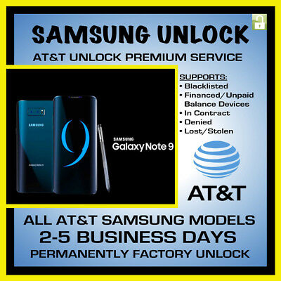 Factory Unlock Codes for Samsung AT&T USA – Galaxy S10 S10+  Note 9 Supported