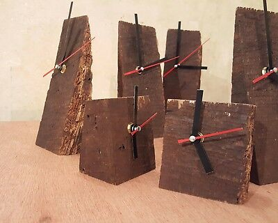 Upcycled Ancient Tudor Vintage Rustic Oak Clock with Analog Quartz Movement