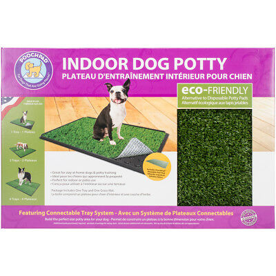 "Indoor Turf Dog Potty Classic Plus Connectable 16""X24""-With Pad"