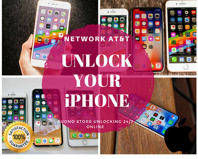 PREMIUM SPEED FACTORY UNLOCK SERVICE AT&T CODE FOR iPHONE X 8 7 SE 6 5 4 3 XS +
