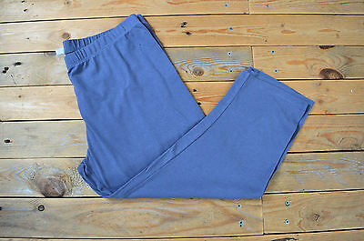 Women's Dusky Blue Capri Gentle Support Maternity Leggings Trousers UK Size 10