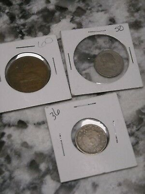 Lot of Mexican Coins 1950 5 cent 1960 20 cent 1936 5 cent