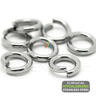 200 SURGICAL STEEL Hypoallergenic OPEN JUMP RINGS 3.5 4 5mm Jewellery Making