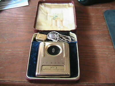 Vintage 1960's Zenith Royal Phone Magnet With the Original Case, Untested
