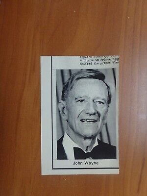 Vintage Wire Press Photo Actor Actress John Wayne The Duke Cowboy Western #33