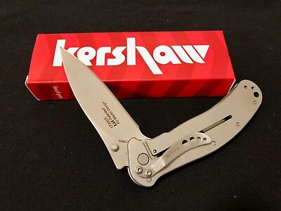 NEW Kershaw 1730ss Stainless Steel Zing Knife with SpeedSafe