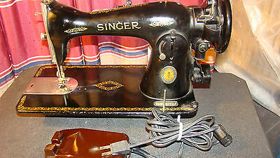 Vintage 1951 Singer Centennial Sewing Machine Model 15 S/N: AK190122