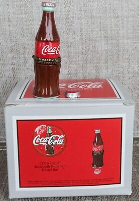 Midwest of Cannon Falls Porcelain PHB Hinged Box Coke Coca-Cola Bottle  NIB MINT