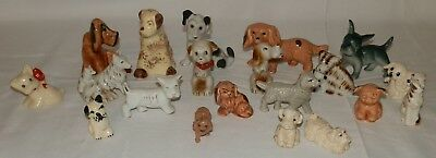 Mixed Lot of 20 Antique/Vintage Dog Figurines ~  Occupied Japan & More