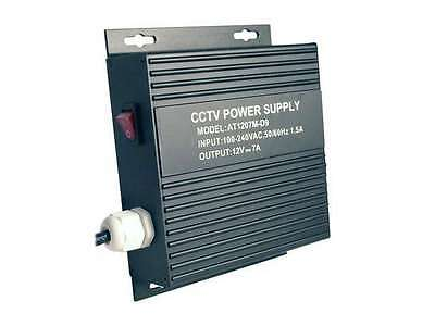 LTS DV-AT1207M-D09 9 Port PTC Protected Wall Mount Power Supply 12V DC 7Amp