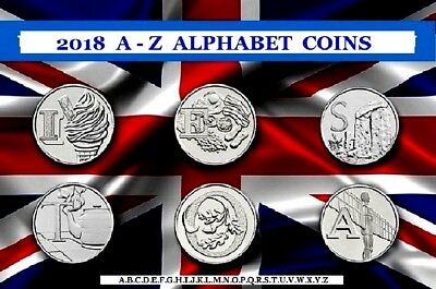 CHEAP 2018 & 2019 A - Z COINS ALPHABET 10p COINS TEN PENCE ANGEL BOND ROBIN TEA