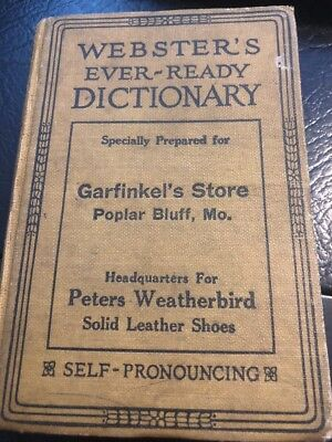 Poplar Bluff Garfinkels - 1926 PETERS WEATHERBIRD SHOES  - Webster's Dictionary