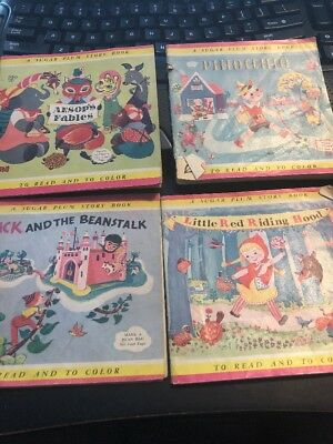 Lot 4 Vintage Peters Weatherbird Shoes Advertising Children's Coloring Books