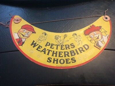 Vintage Peters Weatherbird Shoes Advertising Kids Visor