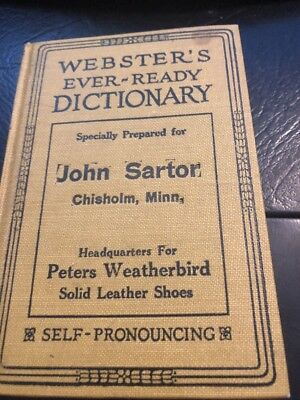 1924 PETERS WEATHERBIRD SHOES  - Webster's Dictionary Chisholm Minn