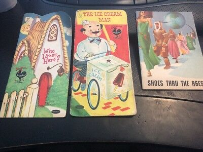 Lot Vintage Peters Weatherbird Shoes Advertising Children's Books Promos