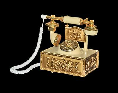 Vintage Western Electric DECO-TEL French Victorian Rotary Dial Telephone M# GLPC