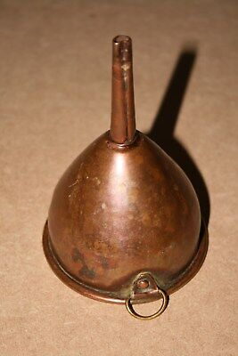 Vintage small copper funnel