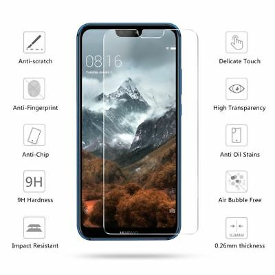 For Huawei P20 Lite Pro Clear Tempered Glass Screen Protector Premium Protection