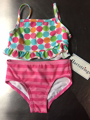 Infant/Toddler Girls 2 Piece Swim Suit 18mo New With Tags Hartstrings